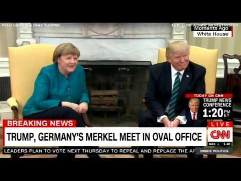 Kancléřka Merkelová přiletěla do Washingtonu jednat s prezidentem Trumpem