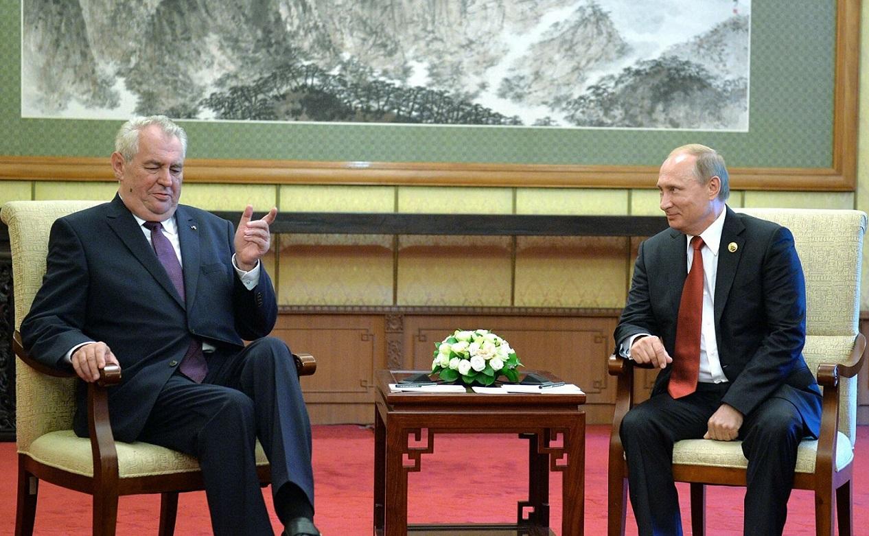 Prezidenti Zeman a Putin. (archivní fotografie)